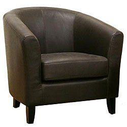 Frederick Dark Brown Leather Club Chair
