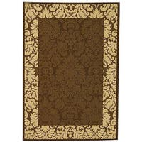 Safavieh Kaii Damask Chocolate/ Natural Indoor/ Outdoor Rug - 2'7 x 5'