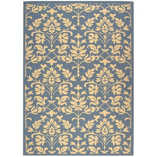 Safavieh Seaview Blue/ Natural Indoor/ Outdoor Rug (4' x 5'7)