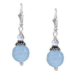 Lola's Jewelry Sterling Silver Aquamarine Gemstone Earrings