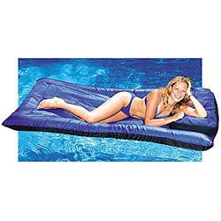 Large Ultimate Floating Nylon Swimming Pool Mattress with Pillow - Thumbnail 0