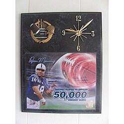 NFL-licensed Peyton Manning Quartz Clock - Thumbnail 0