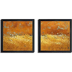 Lanie Loreth 'Flower Fields I and II' Framed Canvas 2-piece Art Set - Thumbnail 0