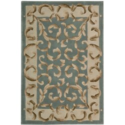 Nourison Hand-tufted Versaille Palace Aqua Rug (8 x 11) - Thumbnail 0