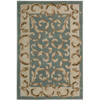 Nourison Hand-tufted Versaille Palace Aqua Rug (8 x 11)