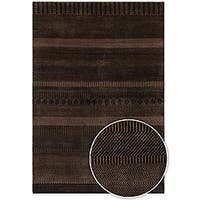 Artist's Loom Hand-knotted Contemporary Stripes Wool Rug (2'6x7'6)