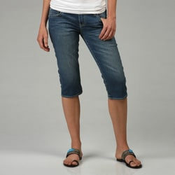 Buffalo Women's 'Queen' Stretch Denim Capris - Free Shipping On ...