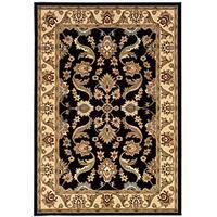 Adana Black/ Cream Rug (5'1 x 7'5)
