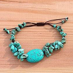 A Turquoise Statement Bracelet (China)