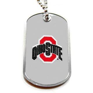 Ohio State Buckeyes Dog Tag Necklace