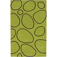 Alliyah Handmade Green New Zealand Blend Wool Rug(8' x 10')