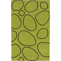 Alliyah Handmade Green New Zealand Blend Wool Rug - 8' x 10'