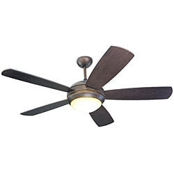 Monte Carlo Discus 52-inch Roman Bronze Finish Ceiling Fan