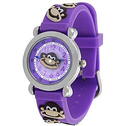 Geneva Platinum Children's Monkey Silicone Watch