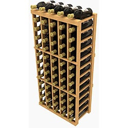 WholeCellar Stackable 60-bottle Pine Wine Rack