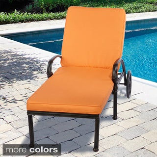 Indoor/ Outdoor Textured Bright 21 Inch Wide Chaise Lounge Cushion With  Sunbrella Fabric