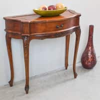 International Caravan Windsor Carved 1-Drawer Hall Table