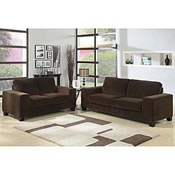 Brianna Suede Sofa And Loveseat Set