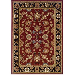 LNR Home Adana Red/ Black Runner Rug (1'9 x 6'9)