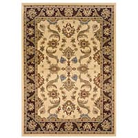 LNR Home Adana Cream/ Brown Oriental Rug (1'9 x 2'10)