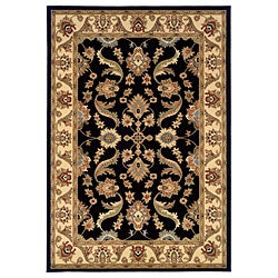 LNR Home Adana Black/ Cream Oriental Runner (1'9 x 6'10)