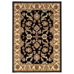LNR Home Adana Black/ Cream Oriental Rug (1'9 x 2'10)
