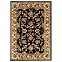 LNR Home Adana Black/ Cream Oriental Rug (1'9 x 2'10)