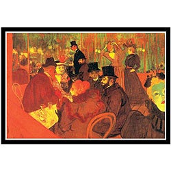Toulouse-Lautrec 'In the Moulin Rouge' Framed Art Print