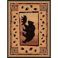 The Lodge Two Bears Southwestern Rug - 5' x 8'