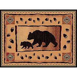 The Lodge Bears Southwestern Rug (8' x 11')