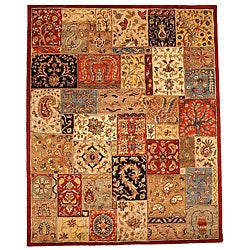 Hand-tufted Lasi Multicolor Wool Rug (5' x 8')