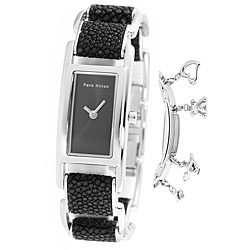Paris Hilton Women's Black Charm Watch