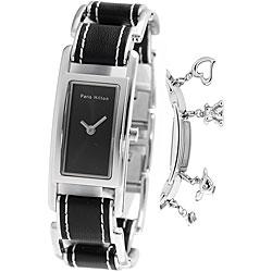 Thumbnail 1, Paris Hilton Women's Black Charm Watch.