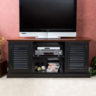 Harper Blvd Antebellum Two-Tone Walnut/ Black Media Stand