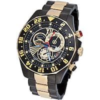 Stuhrling Original Men's 'Nautico' Dual Time Zone Swiss Quartz Watch
