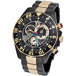 Stuhrling Original Men's 'Nautico' Dual Time Zone Swiss Quartz Watch