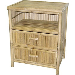 Bamboo Double-draw End Table (Vietnam)