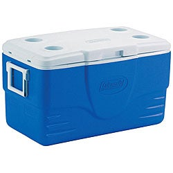 Coleman Blue 50-Quart Cooler - Thumbnail 0