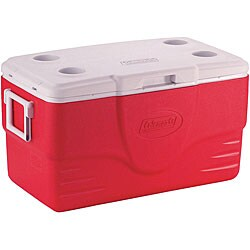 Coleman 50-Quart Red Cooler