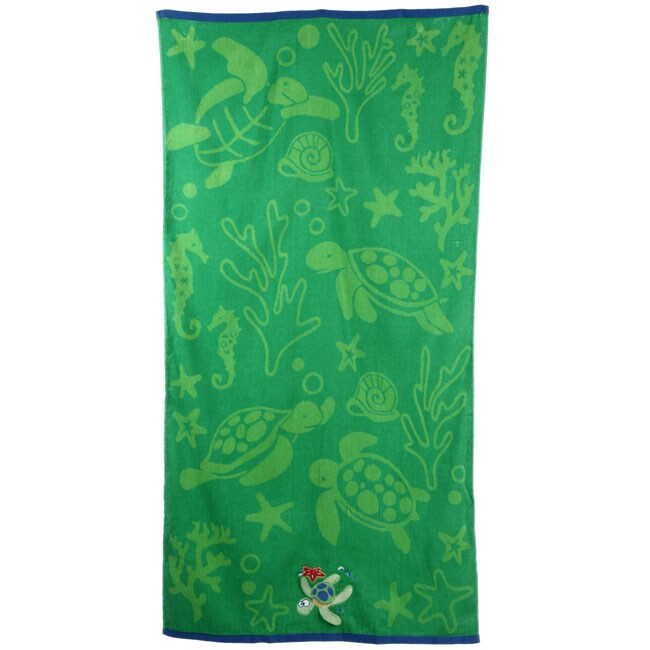 turtle embroidered cotton beach towels set of 2 - Beach Towels On Sale