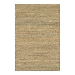 Artist's Loom Hand-woven Casual Reversible Natural Eco-friendly Jute Rug (3'6x5'6)