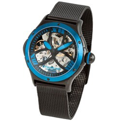 Stuhrling Original Women's Alpine Slalom Blue Skeleton Automatic Watch