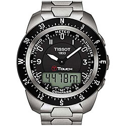 Tissot Men's T-Touch Expert Black Titanium Watch