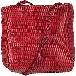 Made in Italy Desmo Leather 'Tribe Interciati' Small Tote