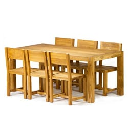 Reclaimed Teak 7-piece Dining Set (India)