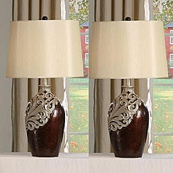 Burke 31-inch Antique Table Lamps (Set of 2)