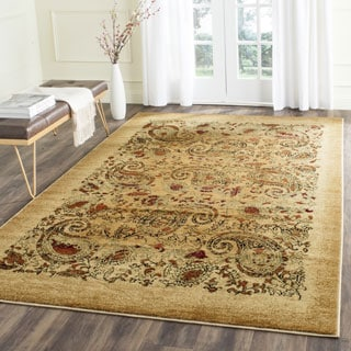Safavieh Lyndhurst Collection Paisley Beige/ Multi Rug (5' 3 x 7' 6)