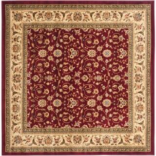 Safavieh Lyndhurst Traditional Oriental Burgundy/ Ivory Rug (8' x 8' Square)