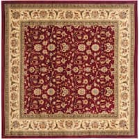 Safavieh Lyndhurst Traditional Oriental Red/ Ivory Rug - 8' x 8' Square