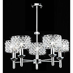 5-light Modern Crystal Chrome Chandelier - Thumbnail 0